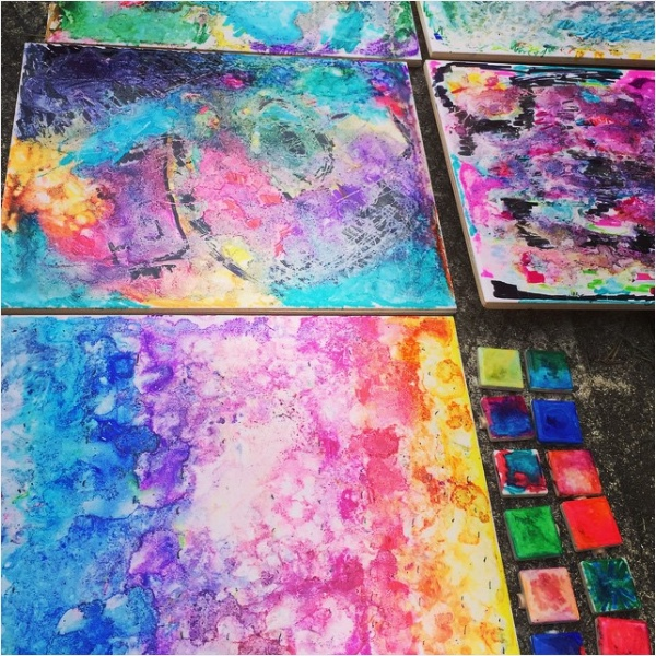 Summer Camp Tile Art – 2015
