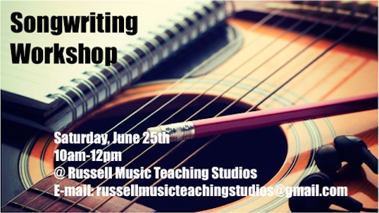 Songwriting Workshop – Sat. Jun 25, 2016