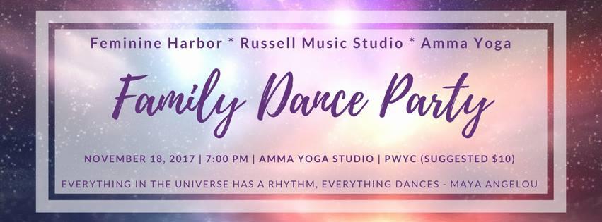 Family Dance Party! Sat Nov 18, 2017, 7:00pm