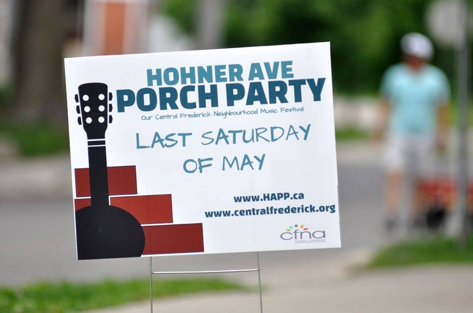 Hohner Ave Porch Party – Sat. May 26, 2018