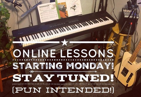 Online Lessons Began Mon. Mar 23, 2020!