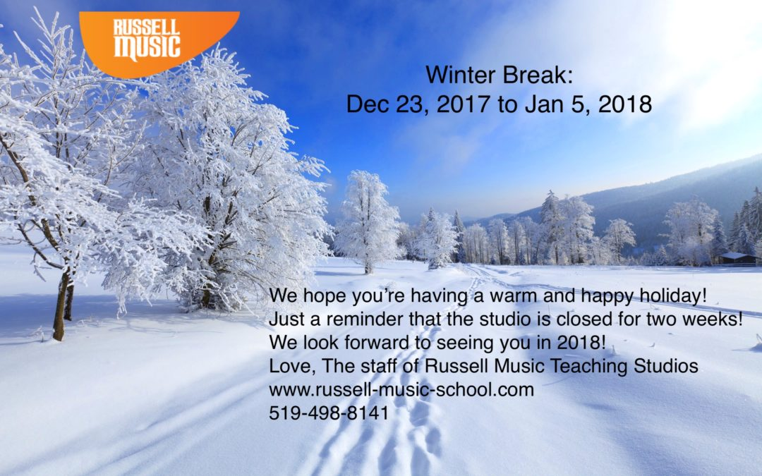 Winter Break December 23rd – January 5th